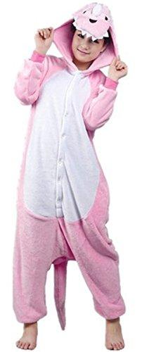 Imagen de kigurumi diseño de grafiti con mujer diseño de piel de jirafa a xl pikachu juego de unisex animal panda mamelucos para pijama disfraz infantil cosplay, dinosaurio rosa, mediano