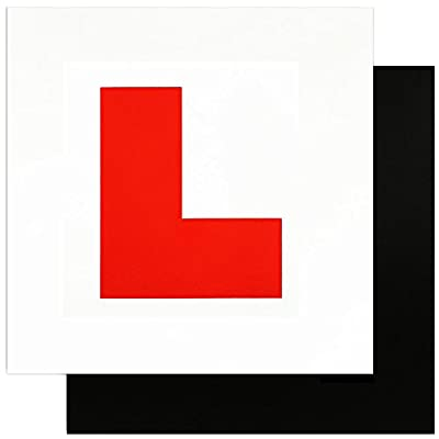 Zacro Fully Magnetic L Plates for New Drivers, 2 Pack Learner Plate, perfect choice for driving security