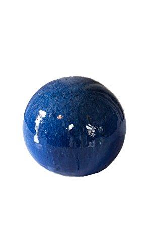 (Teramico Dekokugel Gartenkugel Blau glasiert sehr hochwertig frostfest und witterungsbeständig VON BLUMENKÜBELXXL (16cm, Blau))
