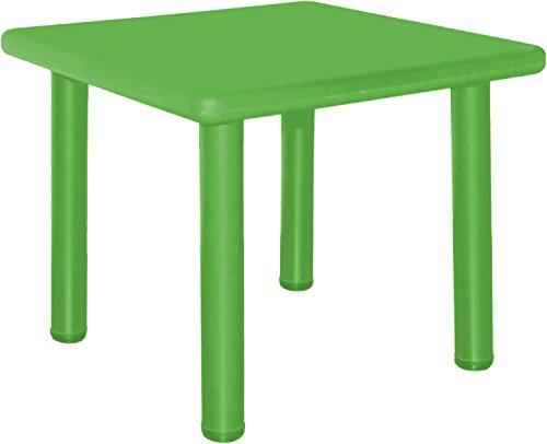 Bieco 04000033 - Kindertisch grün, ca. 62 x 62 x 62 cm