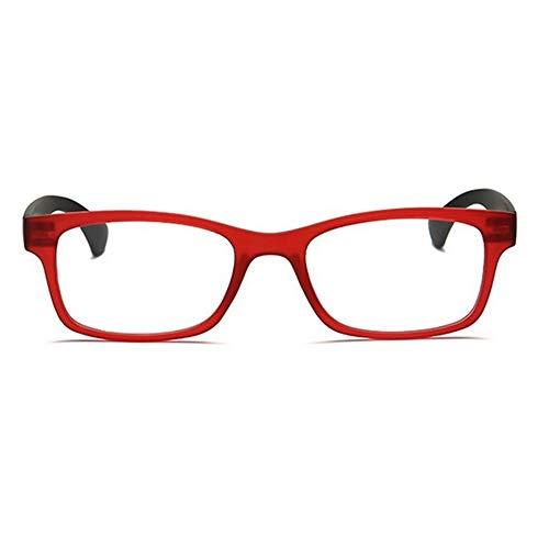 SSXY Presbyopische Brille Ultraleichte Mode Lesebrille Harz Linse Abs Lupe Lupe - Weinroter Rahmen 350 Grad