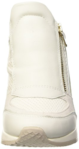 Geox D Nydame A, Low-Top Chaussures femme Blanc (Off Blanc/Blanc)