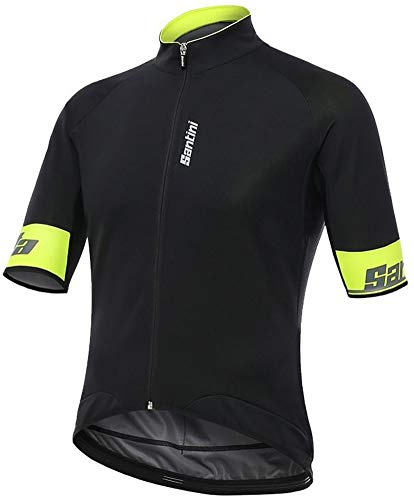 Beta-schwarzes T-shirt (Santini Kurzarm Radsport Trikot 2017 Beta 2.0 Windbreaker Schwarz (Medium , Schwarz))