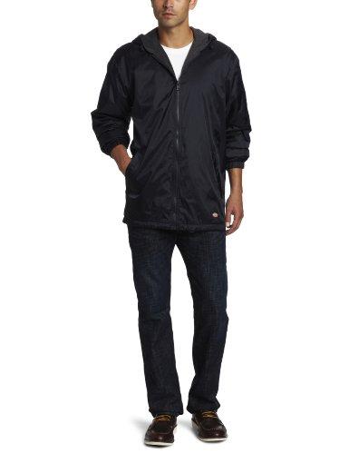 Men's Fleece-Lined Hooded Nylon Jacket DARK NAVY 3XL Fleece-lined Hooded Nylon Jacket