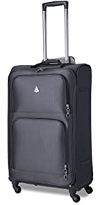 Aerolite Ultra Lightweight 4 Wheel Trolley Luggage Suitcase