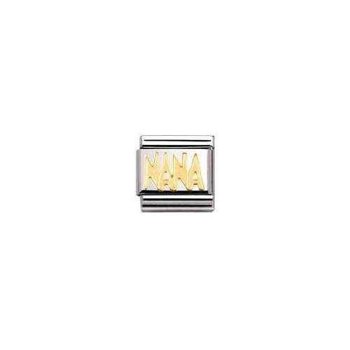 Nomination Composable Classic Signs Nana Stainless Steel and 18K Gold