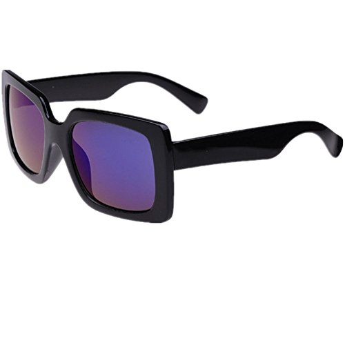 O-C Unisex black stylish driving shield coating sunglasses UV 400