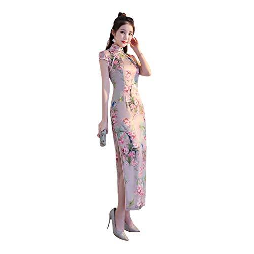 386fa617a404 YAOTIAO Ragazza Lunga Cheongsam Autunno 2018 Nuova Femmina Dazhuang  Atmosfera migliorata Versione di Stile Cinese Ladies