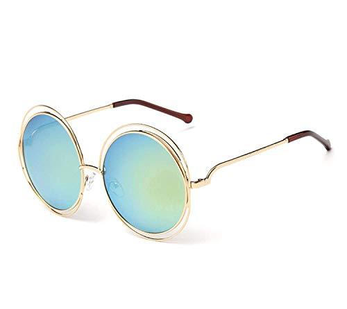 Sport-Sonnenbrillen, Vintage Sonnenbrillen, Vintage Round Big Size Oversized Lens Mirror Sunglasses Women Metal Frame Sun Glasses Cool Retro