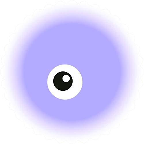 Cute Simple Fuzzy Ball Friendly Monster Ball Cartoon Emoji Truck Car Bumper Sticker Vinyl Decal One Eye Purple 5
