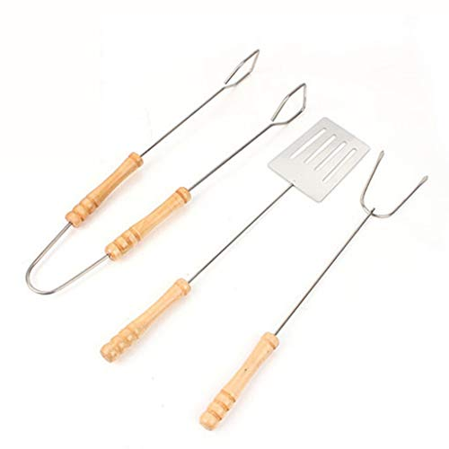 FAINGDF Grillwerkzeug-Set - Grillgabel für Picknicks im Freien, Schaufel, wesentliche Elemente für Clips (rostfrei, nicht heiß, sauber)