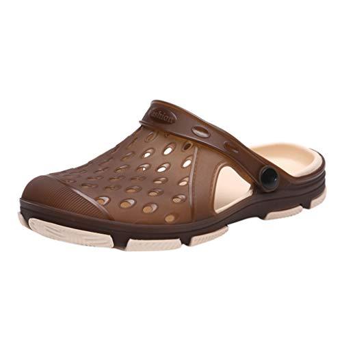 AIni Herren Schuhe Mode Beiläufiges 2019 Neuer Heißer Paare beiläufige Breathable Sandelholze Beleg auf Schuh Strand Pantoffel Dias Freizeitschuhe Strand Partyschuhe (44,Braun)