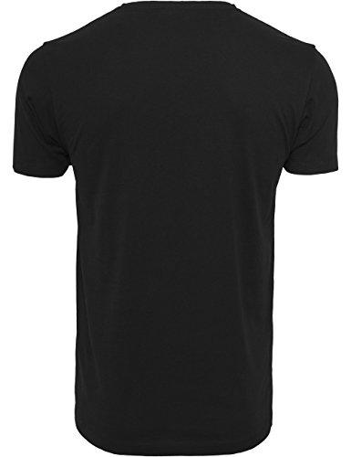 Mister Tee F#?KIT Tee, Herren Streetwear T-Shirt in Weiß und Schwarz, Größe XS bis 3XL Black