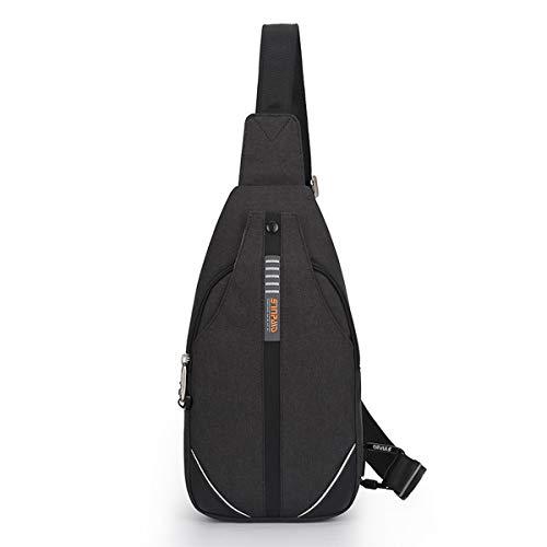Neusky Wasserdichte Slingbag Bodybag Schultertasche, Schulter Brusttasche für Herren Damen und Kinder (Schwarz2019)