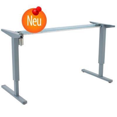 Conset Elektrisch Verstellbarer Säulentisch Stehpult Schreibtisch, grau 152cm