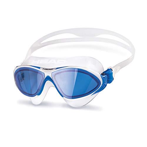 HEAD Erwachsene Schwimmbrille Horizon Sil Clear-White Blue, One Size