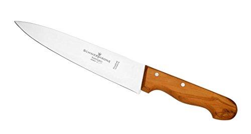 Schwertkrone Kochmesser Solingen 20 cm Olivenholz rostfrei Made in Germany Fleischmesser Allzweckmesser Scharf