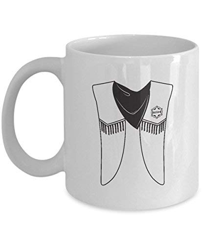 Uniform Sheriff Kostüm - Queen54ferna Geschenk für Kostüm-Fanatiker: Mexikanischer Sheriff-Kostüm, Outfit, Uniform, Kaffeetasse, Keramik, 325 ml