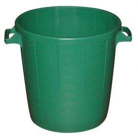 Poubelle d'extérieur sans couvercle - 30 L - vert