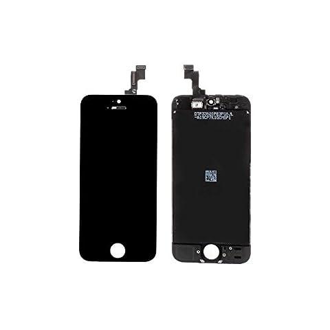 VITRE TACTILE IPHONE 5S + ECRAN LCD SUR CHASSIS IPHONE 5S NOIR + OUTILS