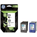 TWIN PACK - Original HP printer ink cartridge black & colour for Deskjet 3920/3930/3940 Officejet 4315 AiO/4355 AiO Officejet 4315 AiO/4355 AiO