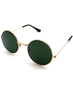 Gafas de Sol Hippie Espejo Redondas Alta Calidad UV 400 S5376 Verde Sunglasses