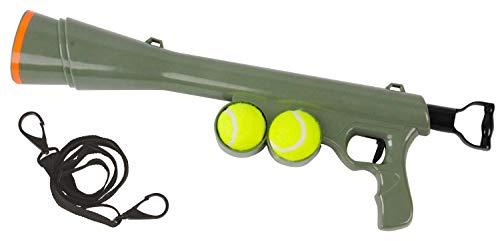 Ballschleuder Wurfspielzeug Ballwerfer BAZOOKA BALL LAUNCHER inkl. 2 Bällen grün