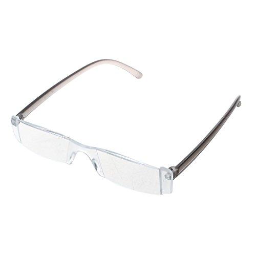 SODIAL(R) Trendige Lesebrille Nerd Brille Lesehilfe Sehhilfe Modern Design Randlos +3.5