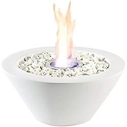 Chimenea de mesa de bioetanol, como fuente de calor o decoración