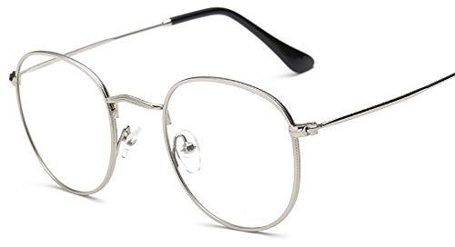 Sheomy Unisex Clear Round Transparent Wayfarer Spectacle Eye Frame Reading Sunglasses Eyeglasses - (Black, Free Size)