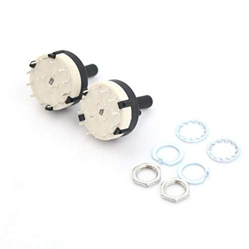 2 Pole 6 Position Rotary Switch - 2pc Single Deck Rotary Switch Band Selector Rs26 2 Pole Position 6 Selectable Channel - Throw Water Rotary Selector Level Moisture Swing Float Head Blade Wifi -