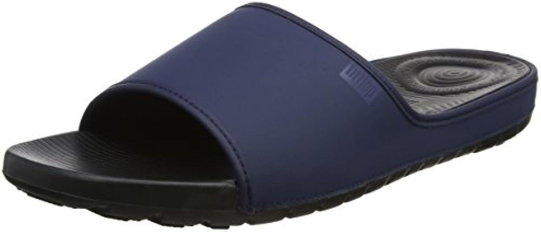 Fitflop Lido Slide Sandals in Neoprene, Sandalias con Punta Abierta para Hombre