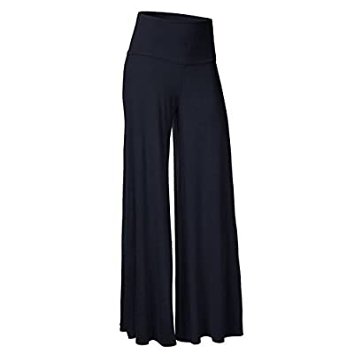 iShine Casual Hosenrock Damen Lang elegant Palazzo Hosen Wide Leg Pants Lagenlook Hosen Lagen Hose mit leichte elastische