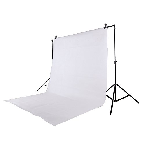Epower Studio 6 x 9FT / 1,8 x 2,8 M Fotostudio 100% reines Muslin Faltbare Hintergrund-Hintergrund für Fotografie, Video und Fernsehen