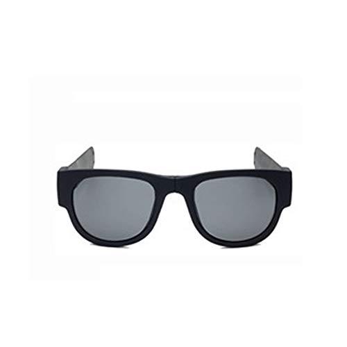 Tianzhiyi Draussen Faltbare Sport-Sonnenbrille, handliche Sonnenbrille, Schutzbrille, Armbandbrille, polarisierte Sonnenbrille, Armband-Knickfalte und Clip (Color : Schwarz, Size : M) -