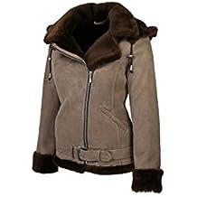 Hollert Damen Lammfelljacke JESSY Camel Felljacke Winterjacke Bikerjacke  Lederjacke kurze Jacke mit Kapuze 100% echt 8d594a5b61