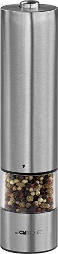 Clatronic PSM 3004 N - Pimentero eléctrico de acero inoxidable, incluye luz para dosificar, perfecto...