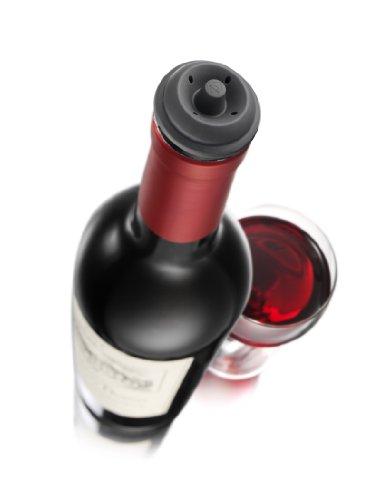 Vacu-Vin-Weinpumpe-Concerto-mit-4-x-Stopfen-Schwarz