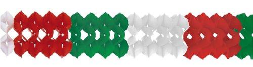 Riethmüller 8621 - Girlande, 25 cm x 4 m, schwer entflammbar, grün/rot