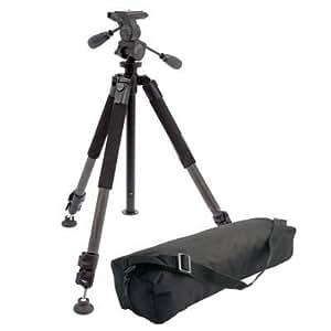Ex-Pro® Heavy DUTY Pan & Tilt 3 Section Carbon Fibre Build Tripod with Free carry bag. [Min 720mm Max 1665mm]