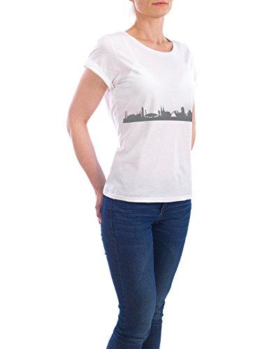 """Design T-Shirt Frauen Earth Positive """"Eindhoven 02 Monochrom Schiefergrau"""" - stylisches Shirt Abstrakt Städte Reise Reise / Länder Architektur von 44spaces Weiß"""