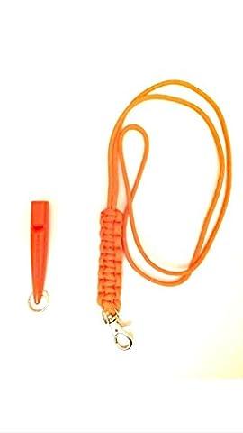 Acme 211.5 Dog Whistle & Lanyard with Cobra Stitch Knot 3mm in Orange
