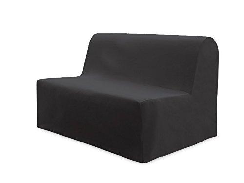 Soleil d'Ocre Panama, Fodera per divano, Antracite, da 120 x 200 cm a 140 cm