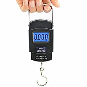 On Gate 50Kg Portable Electronic Digital Weighing Hanging Scale For Travel Luggage,Black Best Online Shopping Store