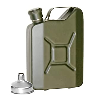 Outdoor Saxx® - Stainless Steel Hip Flask for Whiskey Schnapps 150 ml Olive Green
