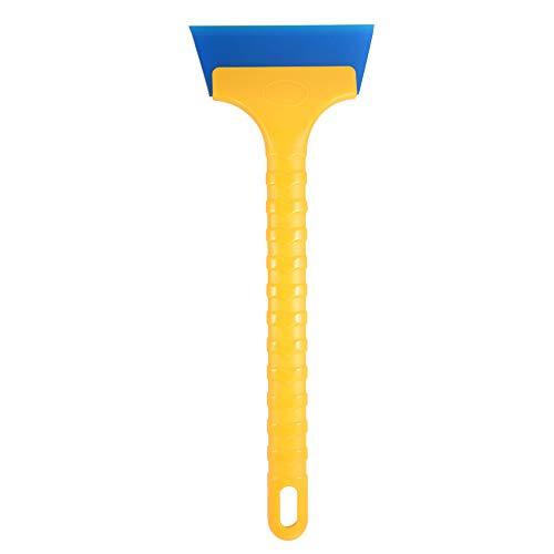 Winjun 1 Stück 34CM Länge Gelb Blau Auto Eiskratzer Fensterabzieher Duschabzieher Badezimmerwischer Wasserabzieher mit 1 Stück Ersatzgummilippe Rutschfest Griff