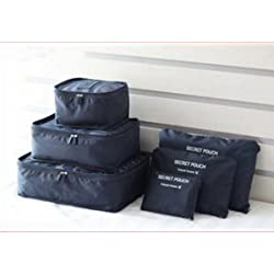Uniquedealz 6Pcs/1Set Travel Storage Bag Storage Clothes Bag Luggage Case Bag Suitcase Underwear Organizer Make Up Organizer Bag 6Pcs Summer Style Travel Storage Bag Set for Clothes Tidy Organizer Pouch Suitcase Handbag Home Closet Divider Drawer Organizer Families Travel Clothes Underwear Socks Storage Bags Packing Cube Luggage Bag Organizer for Six Sizes Points Bagging Sets New 6Pcs/Set Women Men Travel Storage Bag Waterproof High Capacity Luggage Clothes Tidy Pouch Portable Org Multicolur