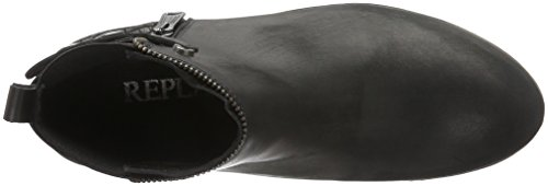 Replay Clearwell, Bottines non doublées femme Noir - Schwarz (Black Silver 96)