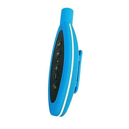 winnerruby Reproductor de MP3 a Prueba de Agua IP68 Reproductor de Audio de Alta fidelidad de 8GB Compatible con Radio FM para Nadar Surf Deportes acuáticos con Auriculares subacuáticos