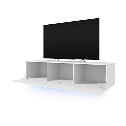 TV-Schrank Lowboard Hängeboard SIMPLE mit LED Blau - 2
